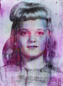 Simon Attwooll Untitled (Purple Negative Girl) Dye