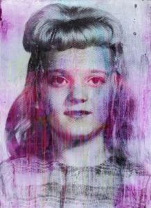 Simon Attwooll Untitled (Purple Negative Girl) Dye