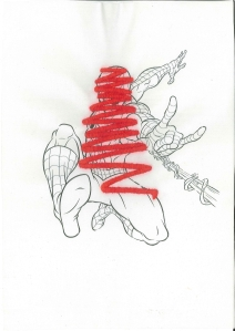 hand-embroidery on digital print